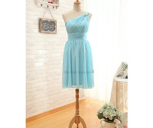 blue, blue gown, and bridesmaid dress image