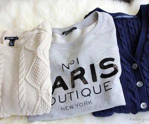 fashion, sweater, and paris image