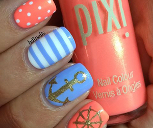 anchor, coral, and blue image