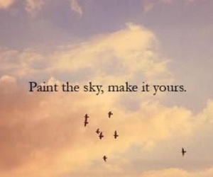 sky, quote, and bird image