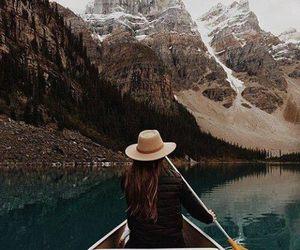 boat, lake, and peace image