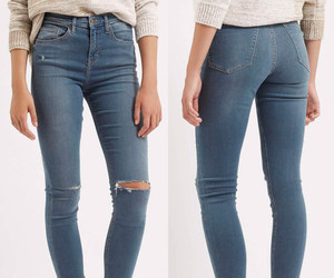 denim, high-waisted, and jeans image