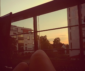 balcony, finland, and summer image