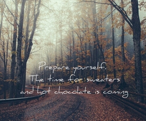 autumn, hello september, and autumn is coming image