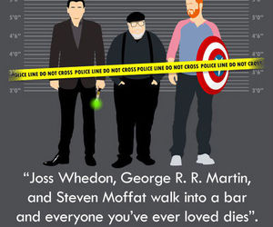 Joss Whedon and steven moffat image