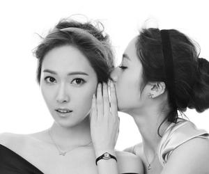 jewellery, krystal jung, and black and white image