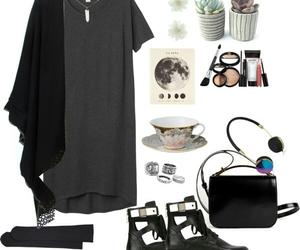 autumn, dark, and fashion image