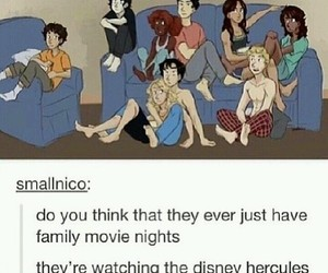 hercules, movie night, and demigods image