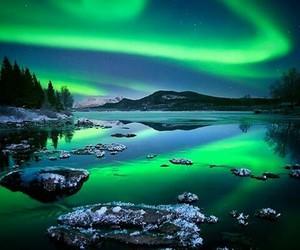 nature, northern lights, and aurora borealis image