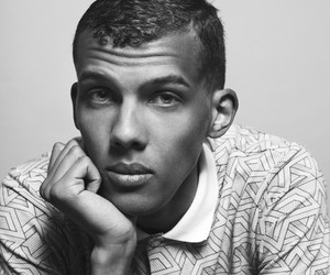 black and white and stromae image