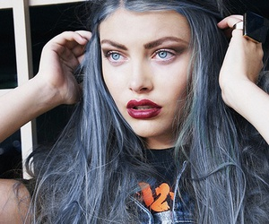 hair, blue, and blue eyes image