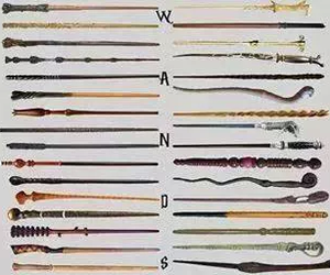 wand and harry potter image