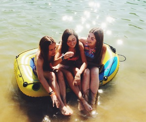 boat, summer, and girls image
