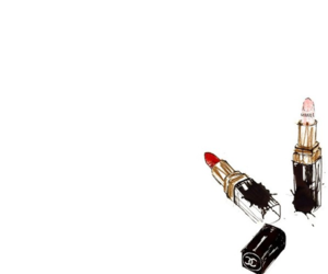 chanel, lipstick, and wallpaper image