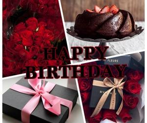 birthday, birthday cake, and chocolate cake image