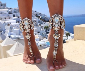 summer, jewelry, and feet image