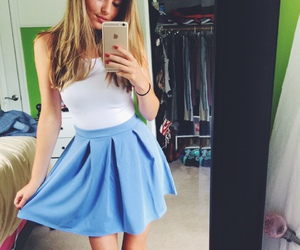 blonde, fashion, and skirt image
