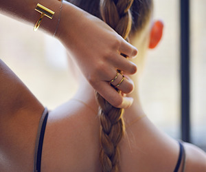 braid, gold, and hair image