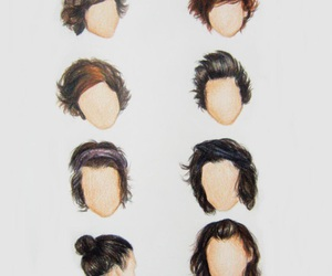 Harry Styles, one direction, and hair image