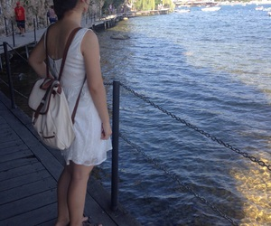 abroad, blue, and dress image