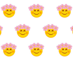 background, flowers, and happy image