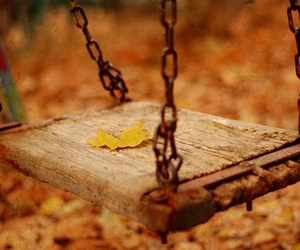 autumn, swing, and fall image