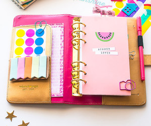 pink, day planner, and cute image