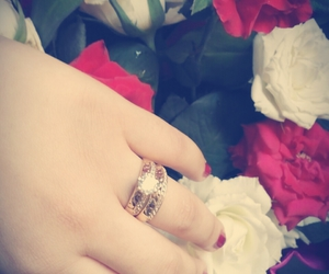 bague, flowers, and married image