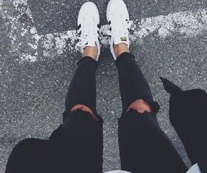 fashion, adidas, and black image
