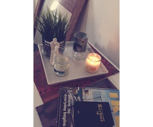 candles, bedroom, and earthy image
