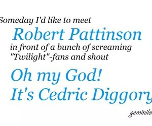 harry potter, twilight, and cedric diggory image