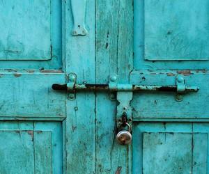 door, pink, and vintage image