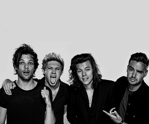 one direction, 1d, and black and white image