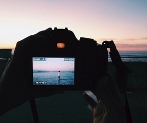 beach, camera, and summer image