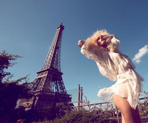 paris, model, and blonde image