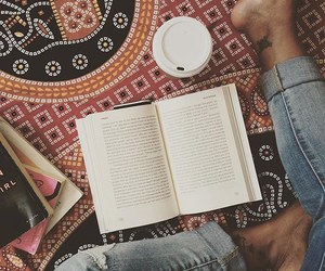 books, cozy, and coffee image