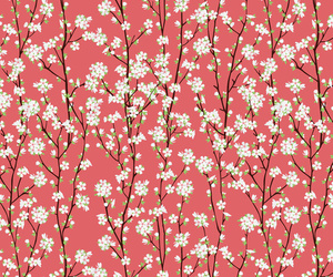 asian, flowers, and patterns image