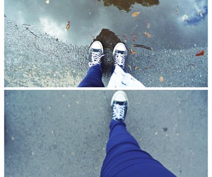 converse, rain, and fly image