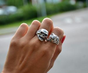 skull, fashion, and rings image