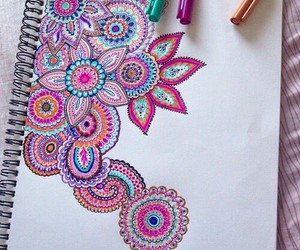 art, colors, and zentangle image