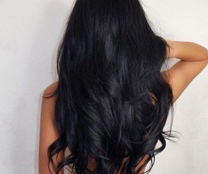 black, black hair, and hairstyle image