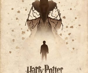 harry potter, deathly hallows, and book image