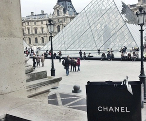 chanel, paris, and louvre image