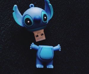 blue, disney, and pendrive image