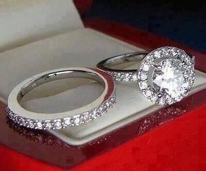 rings, diamond, and wedding image