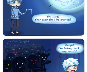 jack frost, funny, and moon image