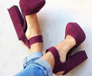 high heels, jeans, and shoes image