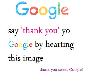 google, sweet, and thank you image