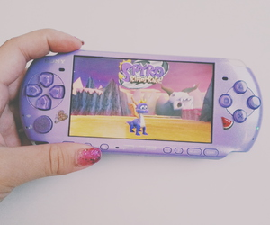 game, lilac, and psp image