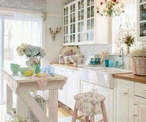 home decor, kitchen, and shabby image